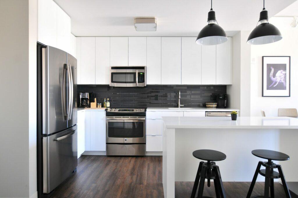 White furniture kitchen